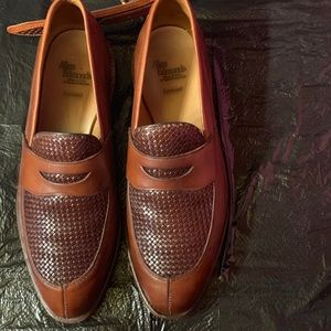 Leather Men's Shoes with Matching Leather Belt